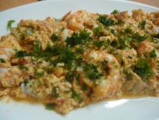 Бъркани яйца със скариди