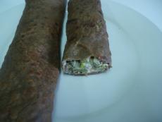 Палачинки от елда с броколини и кашу
