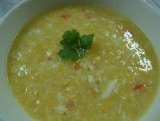 Гъста супа от раци и царевица